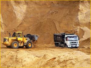 Карьерный песок и способы добычи