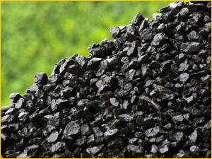 Много угля для отопления помещения