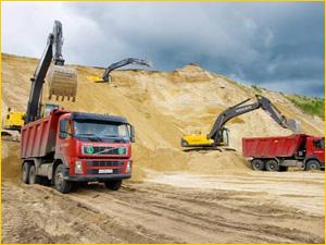 Добыча и доставка карьерного песка