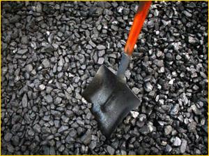 Уголь для отопления печи и котла в коттедже