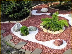 Использование щебня в ландшафтном дизайне