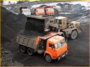Добыча и доставка угля камазом с карьера