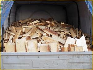 Доставка колотых дров целый кузов самосвала