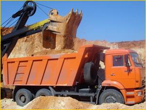 Доставка песка на КАМАЗе с карьера