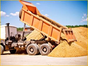 Доставка речного песка самосвалом
